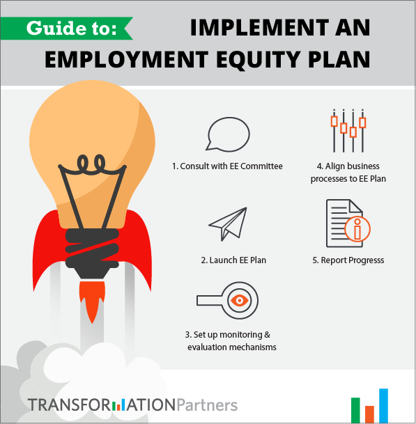 Infographic guide to implement an employment equity plan