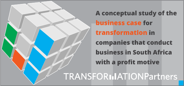 Downloadable PDF for a Conceptual study of the business case for transformation in companies that conduct business in South Africa with a profit motive.